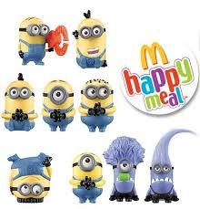 mcdonald deable me 2 happy meal minions toys collection