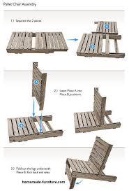 pallet chair diy plans free easy