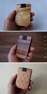 There are four card slots total (two on each side), which is more than enough space for a minimalist wallet, with an extra pocket to stash some bills. B L A Z E R Minimalist Wallet Best Cardholder Card Holder Card Case Wallet Wood Wallet Slim Wallet Card Wallet Sma Wood Wallet Simple Wallet Card Case Wallet