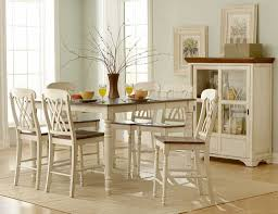 White Distressed Kitchen Table Dining Room Traditional White Painted Dining Tables From Stanley