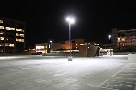 led parking lot light fixtures parking facilities led lighting what you need to know white double