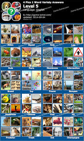4 Pics 1 Word Variety Level 5