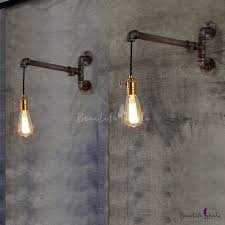 industrial pipe lighting. Industrial Real Simple 1 Light Pipe LED Wall Lamp Lighting P