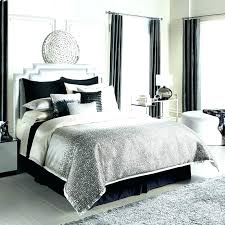 Convertibles Bedroom Set Black Gray And White Touch Of Bling Bedding ...