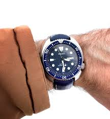 seiko new strap for my turtle let s see some dive watches on leather