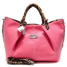 Coach Madison Leopard Large Pink Satchels ACO