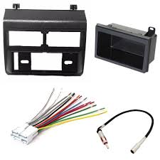 car stereo radio dash installation mounting kit add on storage car stereo radio dash installation mounting kit add on storage pocket wiring harness radio antenna adapter for select chevrolet and gmc vehicles