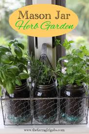 create this easy mason jar herb garden for your window it s the perfect container garden