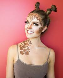 you don t have to be tall to pull off giraffe makeup this