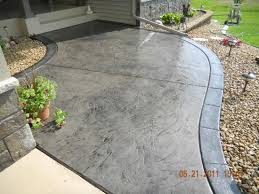 stamped concrete patio styles