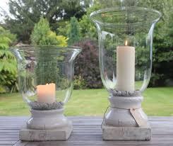 tall vase lighting garden. Tall Glass Hurricane Or Vase With Cream Stone Base - Greige Home \u0026 Garden Lighting