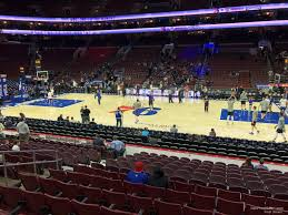 Wells Fargo Center Section 114 Philadelphia 76ers
