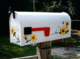 painted mailbox designs. Mailbox Painting Ideas Hand Painted Designs How To Paint A Design . L