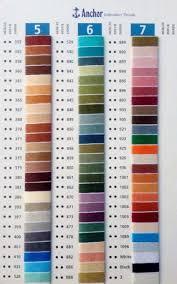 Anchor Floss Colour Chart Details About Anchor Shade Card Crochet Cotton Balls Skien Floss Thread Colour Book Chart Book
