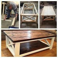 farmhouse coffee and end tables diy rustic coffee table built with repurposed stair tread teds woodworking digimkts beautiful and easy to