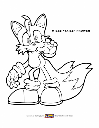 Coloring Pages Tails Page The Fox Doll Sonic | Lightofunity for ...