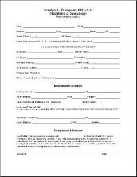 patient information form form patient information sm thompson gynecology