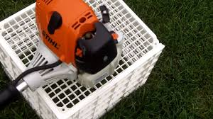 stihl weedeater fs 90. cold start of the stihl fs90r gas trimmer weedeater fs 90 s