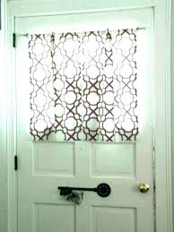 front door side window curtains treatments for doors with half glass curtain d glass front door window coverings