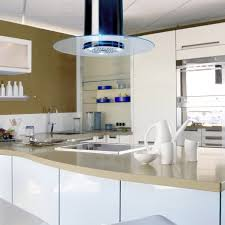 90cm round island cooker hood chrome throughout kitchen extractor designs 4