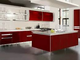 Red White Kitchen Alluring Shades Of Modern Kitchen Lighting For Stunning Interior