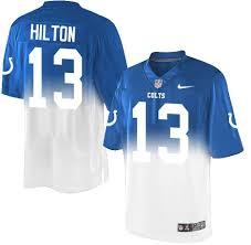 white - Hilton Football Royal Fadeaway Men's Jersey Elite y Blue T Colts 13 Indianapolis