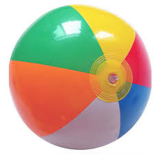 ball toys. ccinee 1pcs beach ball 35cm colored inflatable balls rubber children toy for kids outdoor toys b