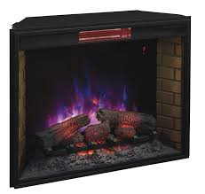 com classicflame 33ii310gra 33 infrared quartz fireplace insert with safer plug home kitchen