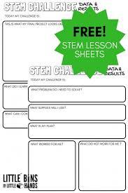 STEM Challenge Worksheets {FREE Printable}   Little Bins for ...