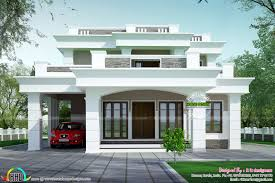 The House Designers Home Plans 2813 Sq Ft Flat Roof Box Type Home Kerala Home Design And