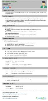 Cv Format Banking Finance Resume Sample Naukriuglf Com Job Downloa