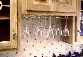 decoration cabinet wine glass rack inviting and hook stemware under hanger 2 from cabinet wine