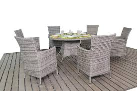 rustic rattan round dining table 6 chairs 999 00