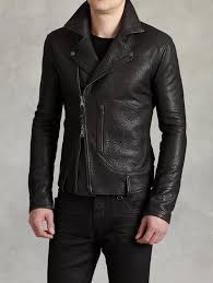 leather biker jackets john varvatos biker jacket with zip patch pocket