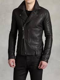john varvatos biker jacket with zip patch pocket