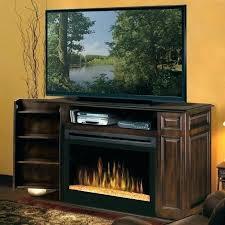 black electric fireplace entertainment