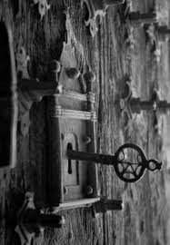 door lock and key black and white.  And Lock And Key On Door And Black White