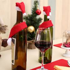 How To Make Decorative Wine Bottle Stoppers Hot New Christmas Wine Bottle Accessory Santa Hat Scarf Bottle 73