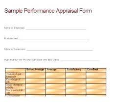 Performance Evaluation Forms Best Of Employee Appraisal Form ...