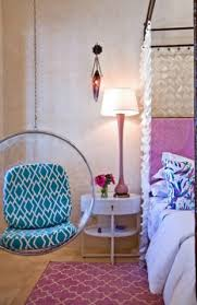 blue hanging chairs for bedrooms. Swinging Chair Next To Bed, How Cute Blue Hanging Chairs For Bedrooms