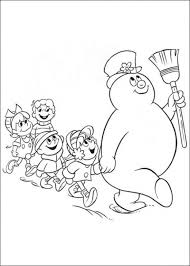Free Printable Frosty The Snowman Coloring Pages Coloring Pages