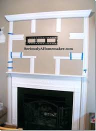 mount tv on brick fireplace hide wires mounting above fireplace hiding wires how to hide cords for a mounted to the wall via sawdust and paper ss genius