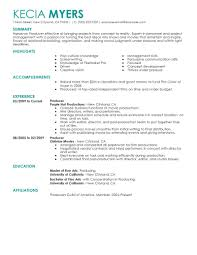 Media Resume Examples Perfect Resume
