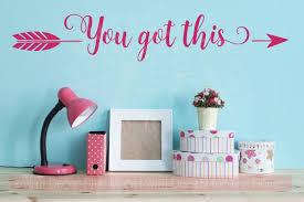 you got this with arrow vinyl decals motivational wall art stickers quotes on motivational wall art for home with you got this with arrow vinyl decals motivational wall art stickers