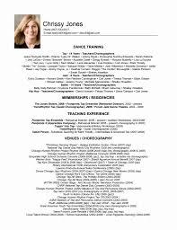 Dance Resume Template Free Resume Online Builder