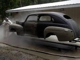 sandblasting car. auto / boat sandblasting car