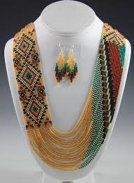 navajo bead designs. Wonderful Navajo Navajo Beaded Necklace Rena Charles With Bead Designs