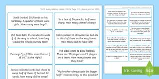 Avery Word Editable Year 2 Fractions Word Problems Avery Labels