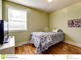 Simple Bedroom Interiors Simple Bedroom Interior With Single Bed And Tv Stock Photo Image