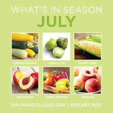 Cuesa Fruit Seasonality Chart Whats In Season In July Bauman College